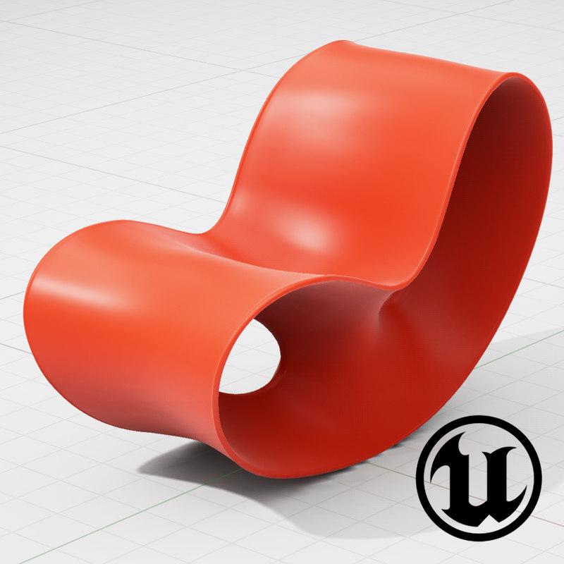 3d unreal magis voido chair model