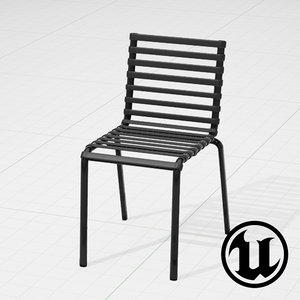 3d unreal magis striped chair model