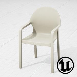 unreal magis tosca chair 3d model