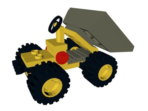 3d lego mini dumper truck