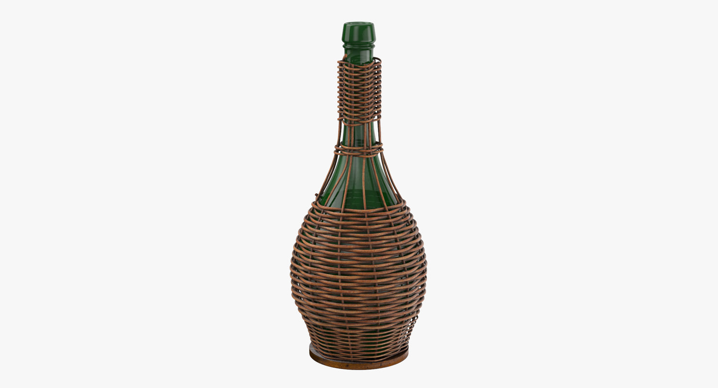 3d model jug basket 02