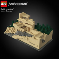 3d model frank lloyd fallingwater lego