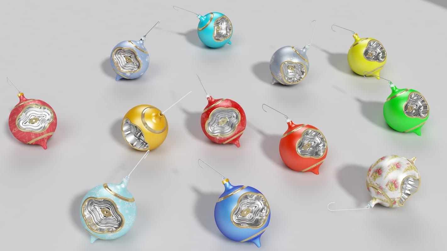3d model chistmas ball ornaments christmas