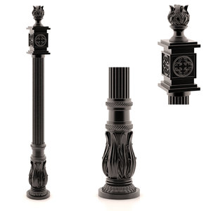 forged pillar 3d max