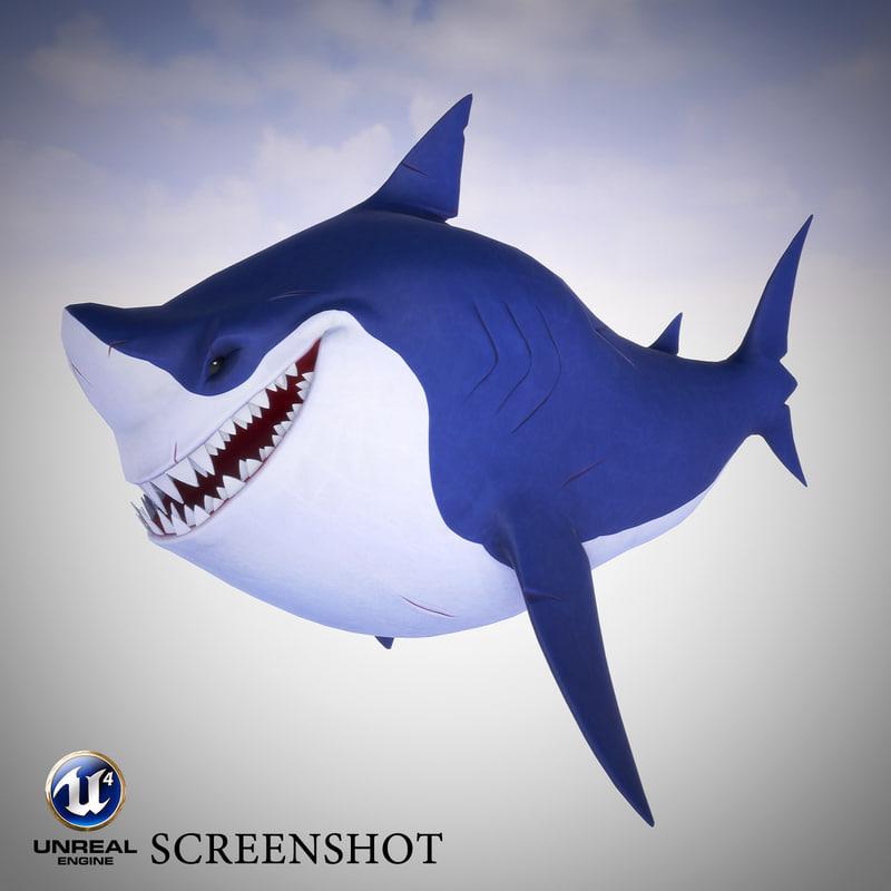 3d ready shark model