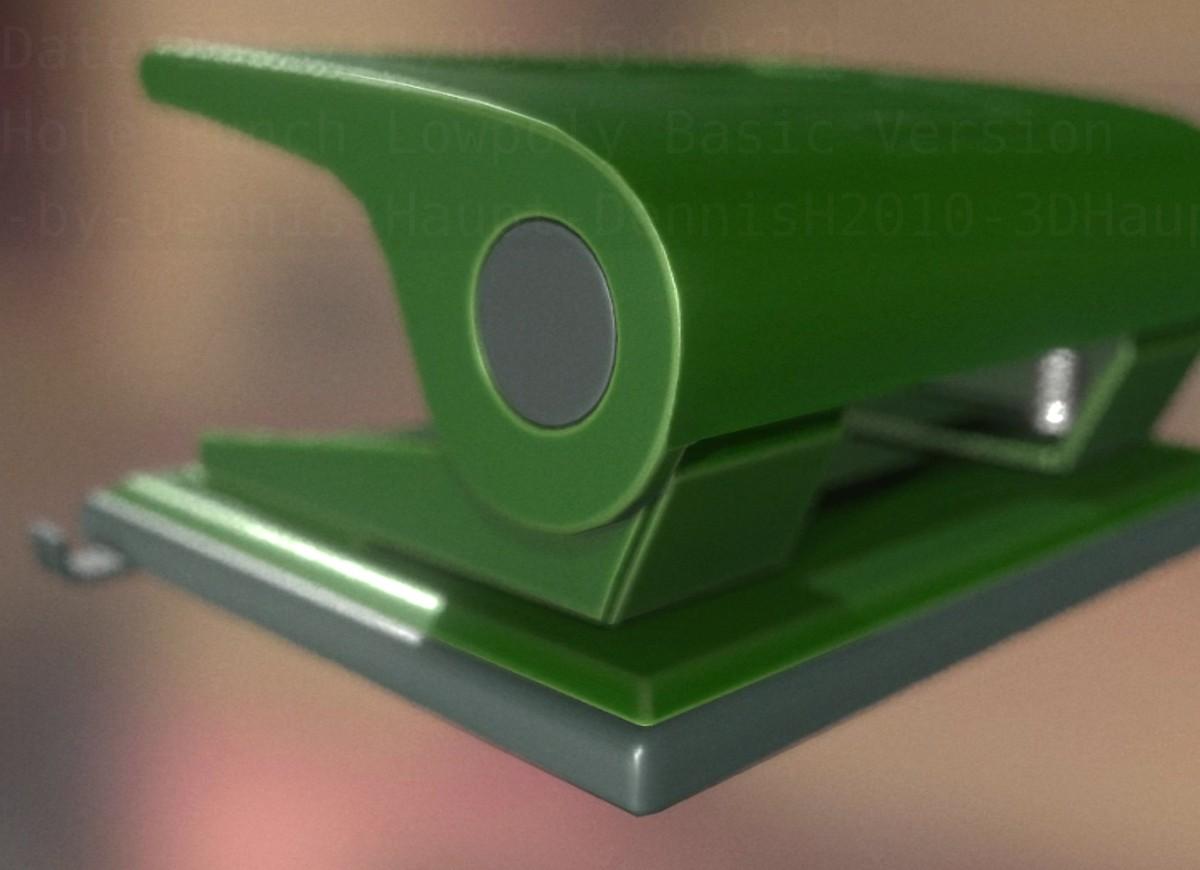 hole punch rigged basic 3d model