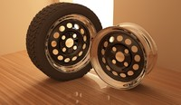 Steelie rim + tyre(1)