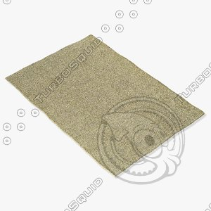 3d amara rug smart beige model