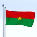 Burkina Faso flag 3D models
