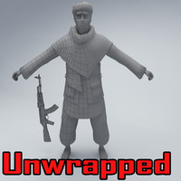 taliban soldier 3d max
