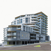 residential apartment building fbx