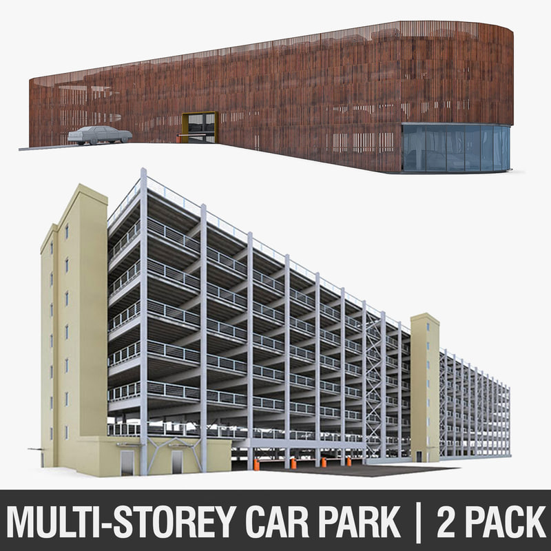 3d parking garage cars model