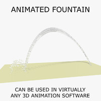 c4d water fountain animations