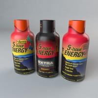 5 hour energy drink 3d c4d