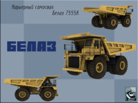 3d model of belaz 7555