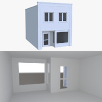 3d store interior buildings