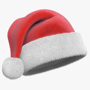 christmas hat fur 3d model