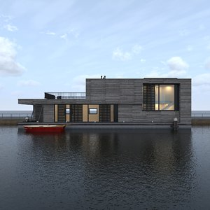 3d max modern house boat