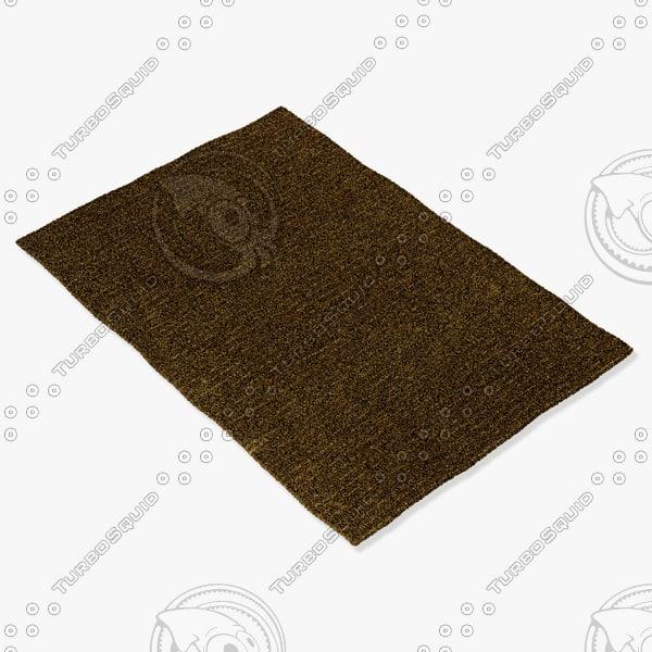 3d amara rug smart olive model