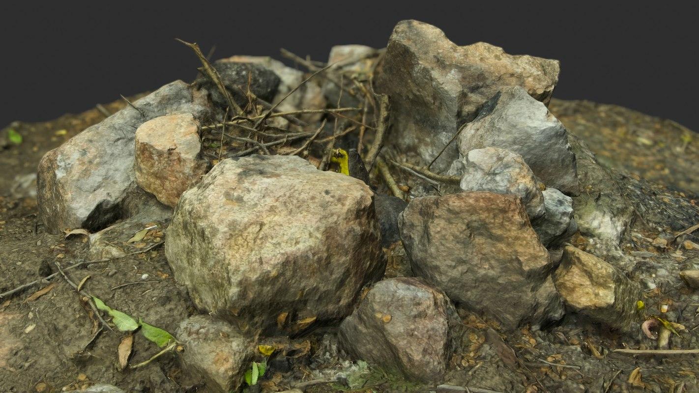 3d model of campfire extinct