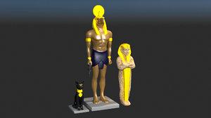 ancient statue 3d 3ds