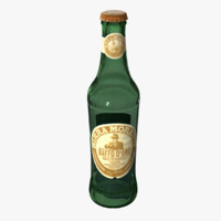 moretti bottle 3d obj