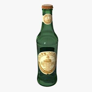 moretti bottle 3d obj