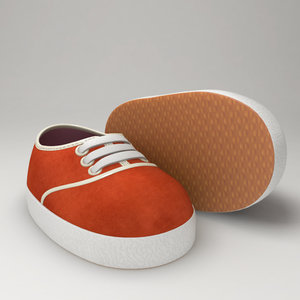 obj stylized cartoon baby shoes