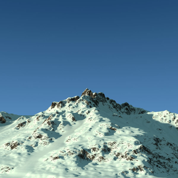 snow mountains terrain landscape max