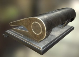 hole punch rigged 3d model