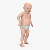 small baby boy rigged 3d max