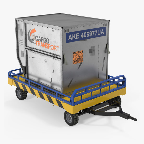 3d airport transport trailer bed