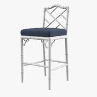 chippendale counter stool 3d model
