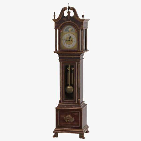 creepy grandfather clock 01 max