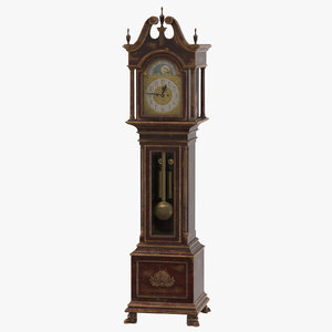 creepy grandfather clock 01 max