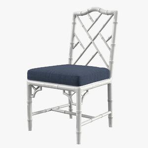 3d chippendale dining chair model