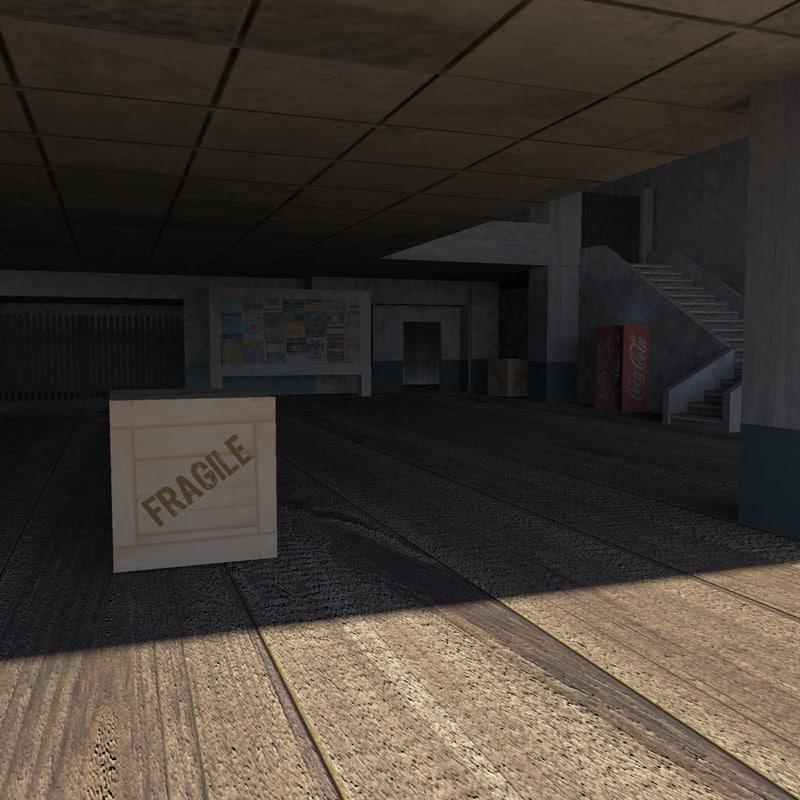 3d model of gaming scene