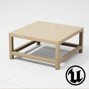 3d model dedon barcelona table