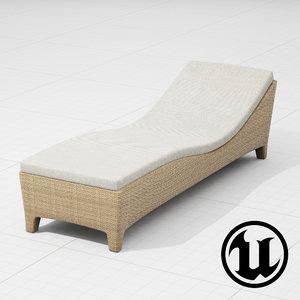 3d dedon lounge chair ue4