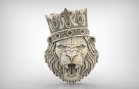 3d pendant lion king print model