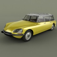 3d model of 1968 citroen ds 21