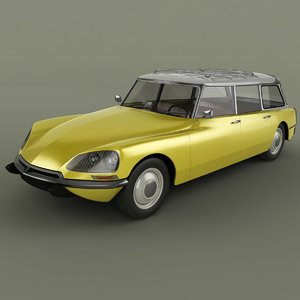 3d model of 1968 citroen ds 21