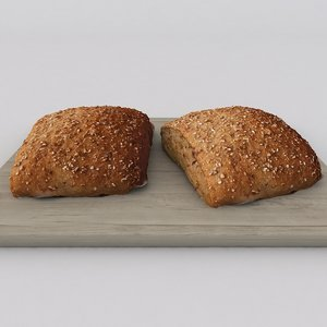 scan spelt loaf 3d max
