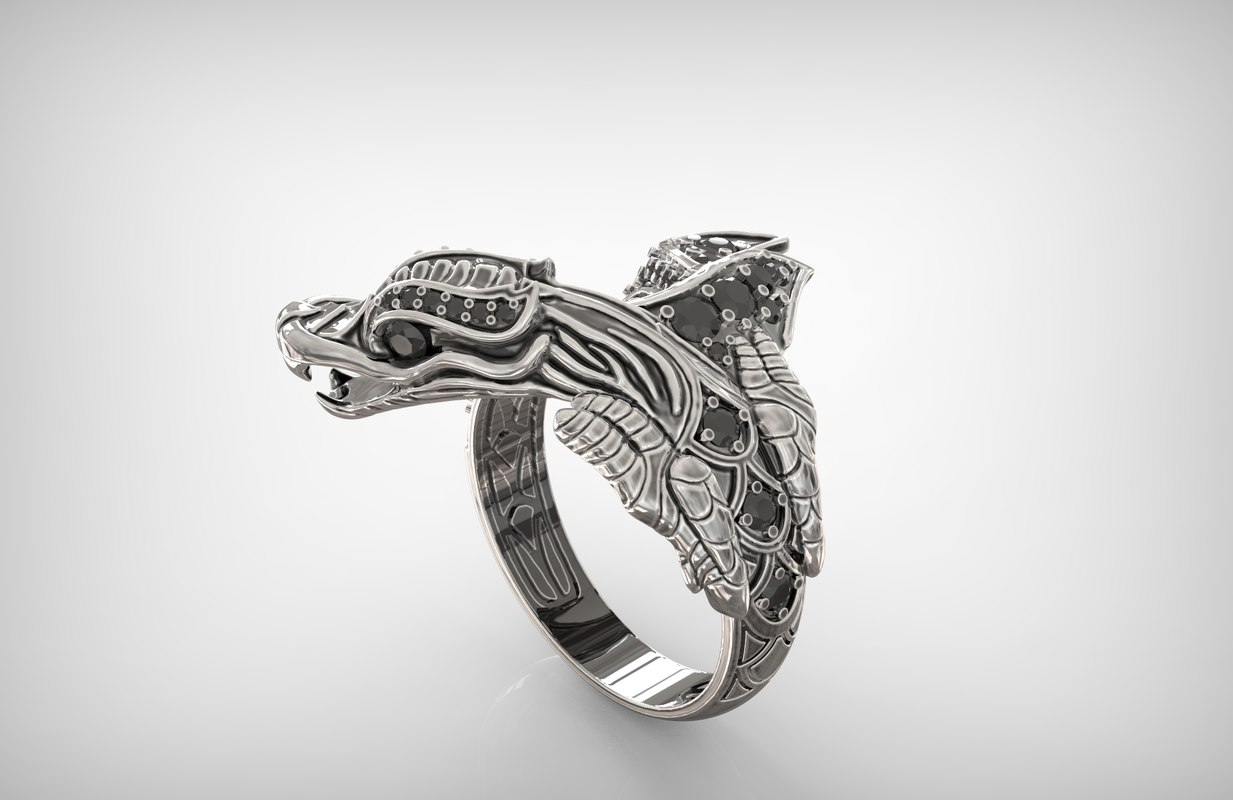 dragon ring 3d model