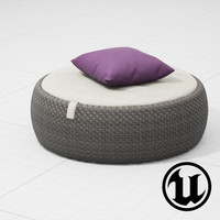 3d dedon dala chair ue4