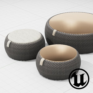 3d dedon dala tables