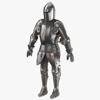 medieval armor - rigged 3d model