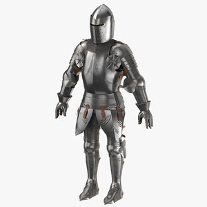3d medieval armor - rigged