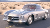 3d mercedes 300sl gullwing
