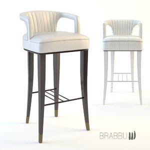 3d model karoo bar chair